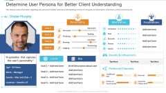 Agile Certificate Coaching Company Determine User Persona For Better Client Understanding Designs PDF