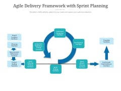 Agile Delivery Framework With Sprint Planning Ppt PowerPoint Presentation Infographic Template Template PDF