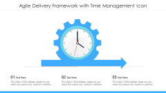 Agile Delivery Framework With Time Management Icon Ppt Visual Aids Outline PDF