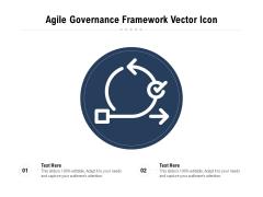 Agile Governance Framework Vector Icon Ppt PowerPoint Presentation File Brochure PDF
