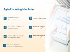 Agile Marketing Approach Agile Marketing Manifesto Ppt Professional Show PDF