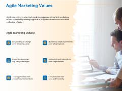 Agile Marketing Approach Agile Marketing Values Ppt Summary Structure PDF