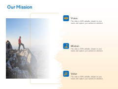 Agile Marketing Approach Our Mission Ppt Infographics Ideas PDF