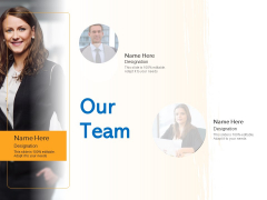 Agile Marketing Approach Our Team Ppt Professional Smartart PDF
