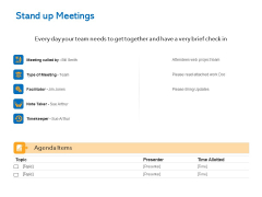 Agile Marketing Approach Stand Up Meetings Ppt File Icon PDF