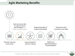 Agile Marketing Benefits Ppt Powerpoint Presentation Icon Picture
