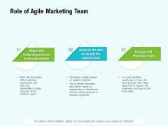 Agile Marketing Guide Role Of Agile Marketing Team Ppt Ideas Designs PDF