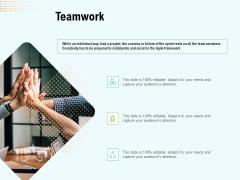 Agile Marketing Guide Teamwork Ppt Deck PDF