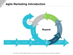Agile Marketing Introduction Strategy Ppt PowerPoint Presentation Icon