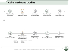 Agile Marketing Outline Ppt Powerpoint Presentation Show File Formats