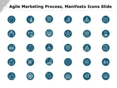Agile Marketing Process And Manifesto Icons Slide Ppt PowerPoint Presentation Summary Graphics Download