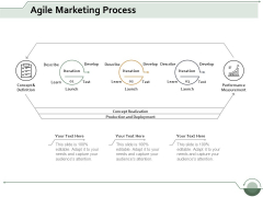 Agile Marketing Process Ppt Powerpoint Presentation Icon Background