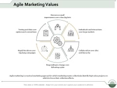Agile Marketing Values Ppt Powerpoint Presentation Infographic Template Aids