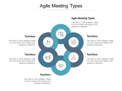 Agile Meeting Types Ppt PowerPoint Presentation Professional Backgrounds Cpb