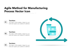 Agile Method For Manufacturing Process Vector Icon Ppt PowerPoint Presentation Gallery Tips PDF