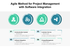 Agile Method For Project Management With Software Integration Ppt PowerPoint Presentation File Format PDF