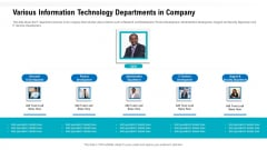 Agile Methodologies Various Information Technology Departments In Company Ppt Infographics Summary PDF