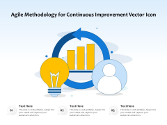 Agile Methodology For Continuous Improvement Vector Icon Ppt PowerPoint Presentation Show Vector PDF