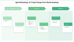 Agile Methodology For Project Change Three Months Roadmap Ideas