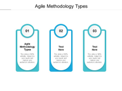 Agile Methodology Types Ppt PowerPoint Presentation Infographic Template Inspiration Cpb