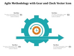 Agile Methodology With Gear And Clock Vector Icon Ppt PowerPoint Presentation Icon Images PDF