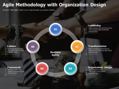 Agile Methodology With Organization Design Ppt PowerPoint Presentation Show Smartart PDF
