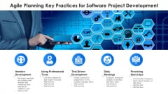 Agile Planning Key Practices For Software Project Development Ppt PowerPoint Presentation Gallery Example PDF
