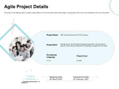 Agile Prioritization Methodology Agile Project Details Ppt Ideas Maker PDF