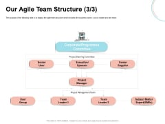 Agile Prioritization Methodology Our Agile Team Structure Committee Ppt Ideas Graphics PDF