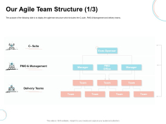 Agile Prioritization Methodology Our Agile Team Structure Suite Ppt Outline Professional PDF