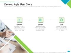 Agile Process Implementation For Marketing Program Develop Agile User Story Mockup PDF