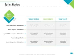 Agile Process Implementation For Marketing Program Sprint Review Summary PDF
