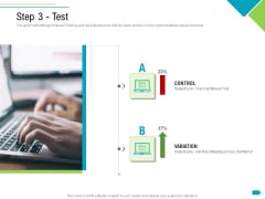 Agile Process Implementation For Marketing Program Step 3 Test Elements PDF