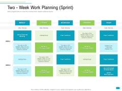 Agile Process Implementation For Marketing Program Two Week Work Planning Sprint Mockup PDF