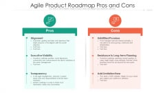 Agile Product Roadmap Pros And Cons Ppt PowerPoint Presentation File Visual Aids PDF