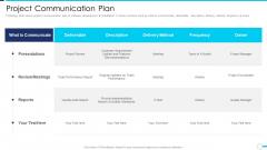 Agile Project Administration Procedure Project Communication Plan Background PDF