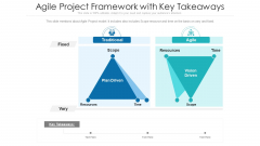 Agile Project Framework With Key Takeaways Ppt Gallery Tips PDF