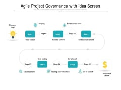 Agile Project Governance With Idea Screen Ppt PowerPoint Presentation Infographic Template Graphics Download PDF