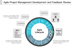 Agile Project Management Development And Feedback Review Ppt PowerPoint Presentation Layouts Clipart Images