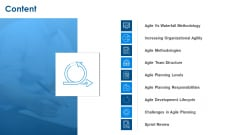 Agile Project Planning Content Ppt Model Summary PDF