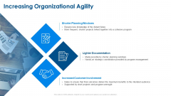 Agile Project Planning Increasing Organizational Agility Ppt Gallery Designs Download PDF