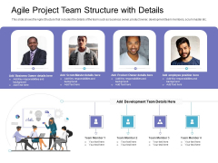 Agile Project Team Structure With Details Professional PDF