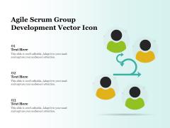 Agile Scrum Group Development Vector Icon Ppt PowerPoint Presentation File Elements PDF