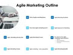 Agile Scrum Marketing Agile Marketing Outline Ppt Inspiration Background Images PDF
