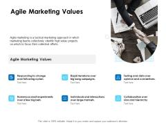 Agile Scrum Marketing Agile Marketing Values Ppt Outline Format Ideas PDF
