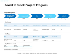 Agile Scrum Marketing Board To Track Project Progress Ppt Show Inspiration PDF
