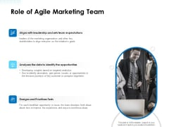 Agile Scrum Marketing Role Of Agile Marketing Team Ppt Layouts Influencers PDF
