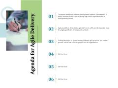 Agile Service Delivery Model Agenda Pictures PDF