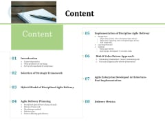 Agile Service Delivery Model Content Summary PDF