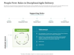 Agile Service Delivery Model People First Roles In Disciplined Agile Delivery Graphics PDF